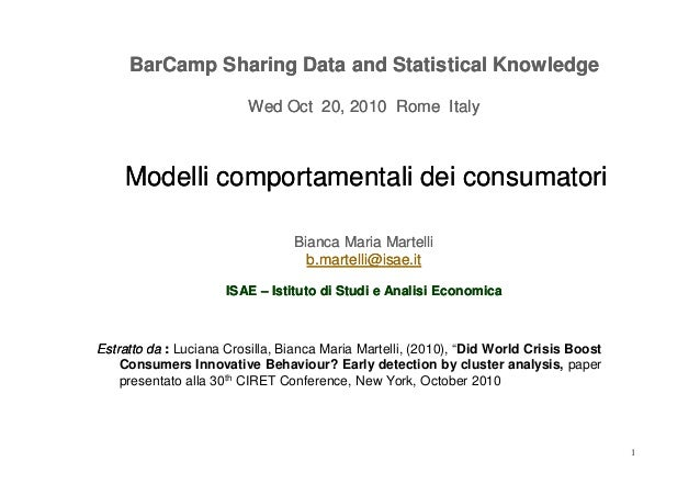 BarCampBarCamp SharingSharing Data andData and StatisticalStatistical KnowledgeKnowledge Wed OctWed Oct 2020,, 20102010 Ro...