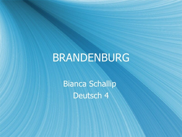 BRANDENBURG Bianca Schallip  Deutsch 4