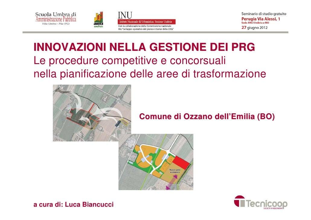Innovazione nella Gestione dei PRG
