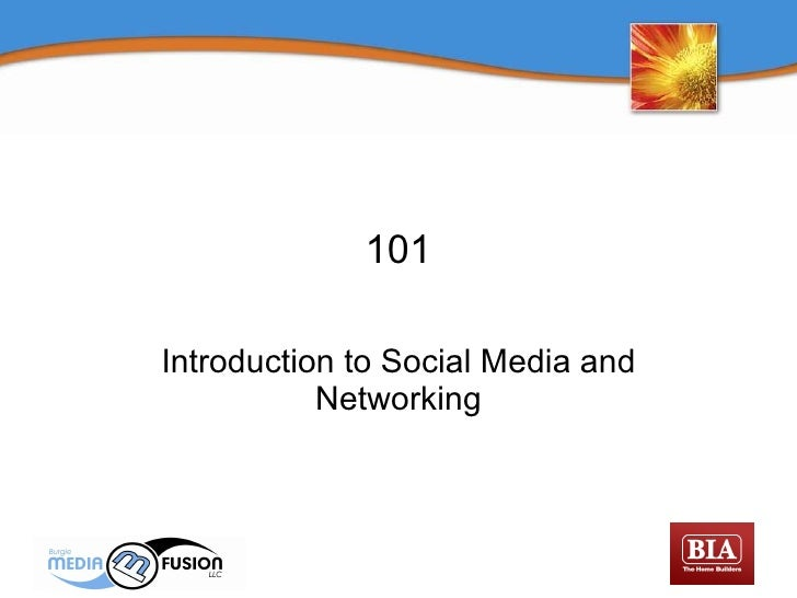 101 Introduction to Social Media and Networking