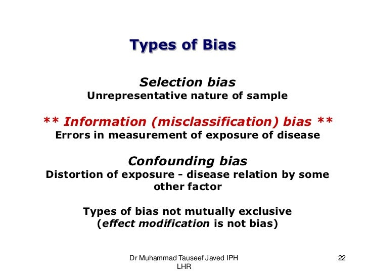 Bias Confounding And Fallacies In Epidemiology