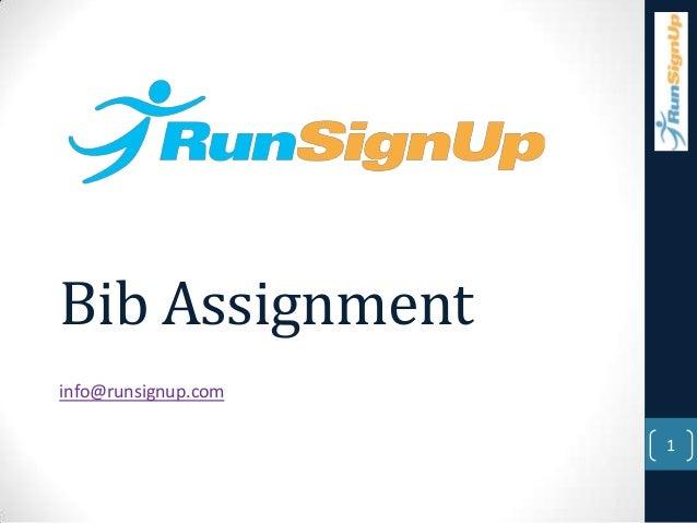 Bib Assignmentinfo@runsignup.com1