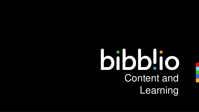 Online content and Learning - Bibblio sneak preview