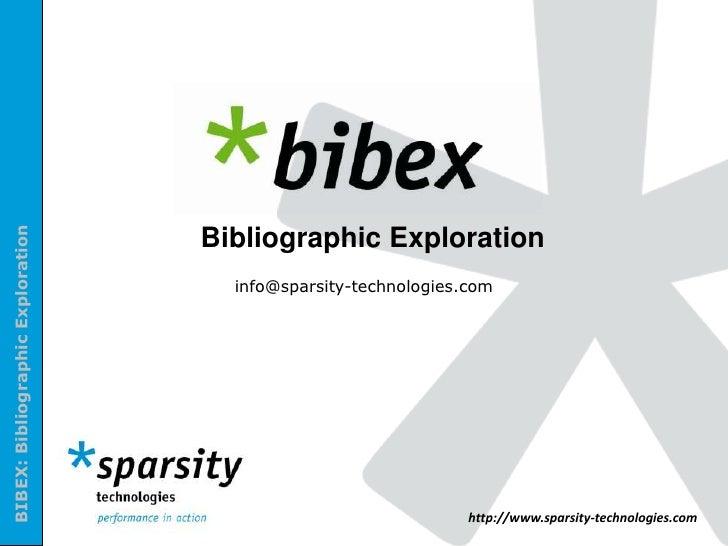 Bibex: Introduction