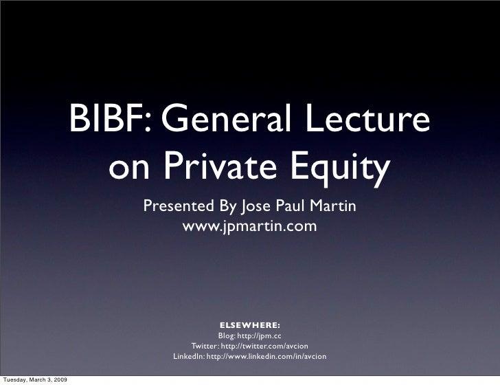 BIBF Presentation (With Video)