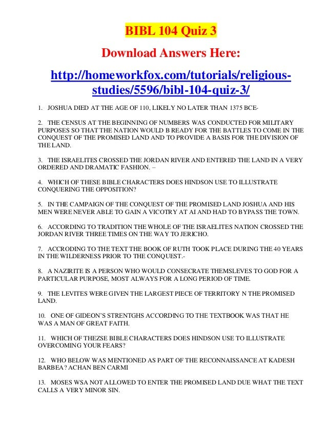 quiz bibl 104 liberty university Liberty university bibl 104 quiz 3 complete solutions , liberty university bibl 104 quiz 3 complete solutions answers and more three different versions proverbs are.