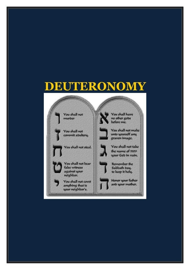 Bible Study: Deuteronomy – Summary of the Book