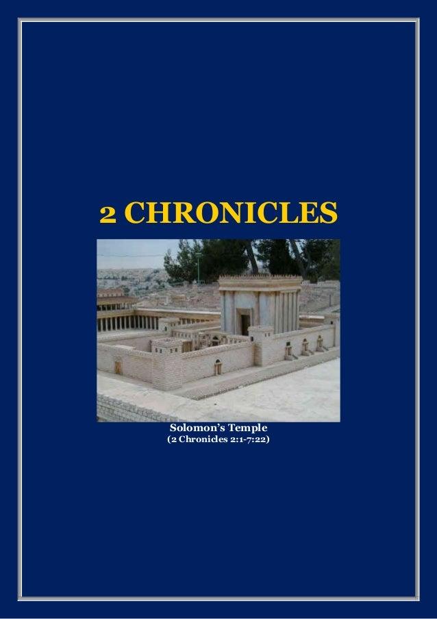 2 CHRONICLES Solomon's Temple (2 Chronicles 2:1-7:22)