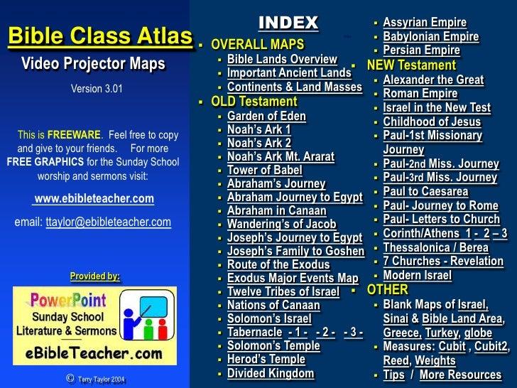 INDEX                       Assyrian Empire Bible Class Atlas                        OVERALL MAPS                       ...