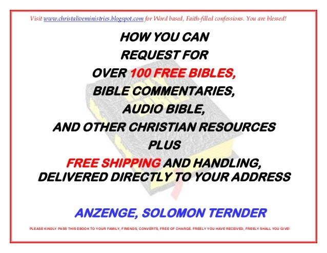 Bibles for free ebook