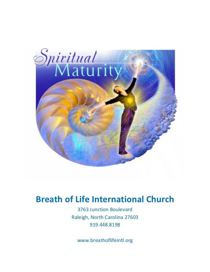 Spiritual Maturity (Bible Study)