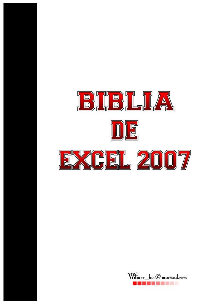 Biblia de excel 2007 ebook