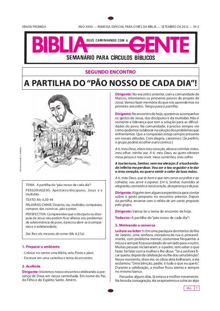 VENDA PROIBIDA                          ANO XXXV — REMESSA ESPECIAL PARA O MÊS DA BÍBLIA — SETEMBRO DE 2012 — Nº 2        ...