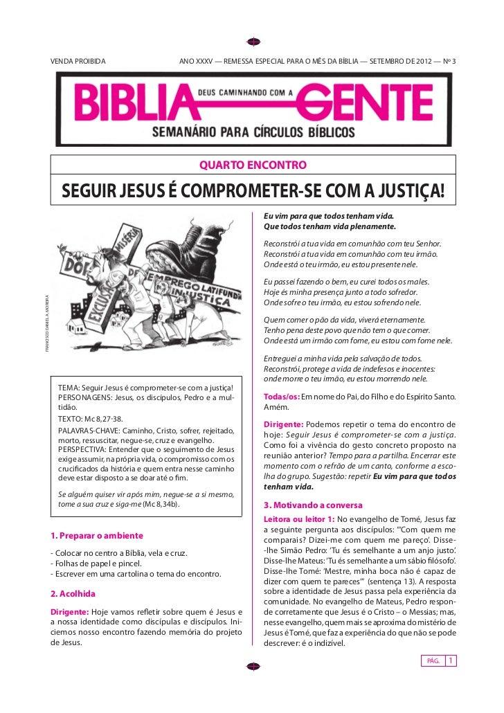 VENDA PROIBIDA                       ANO XXXV — REMESSA ESPECIAL PARA O MÊS DA BÍBLIA — SETEMBRO DE 2012 — Nº 3           ...