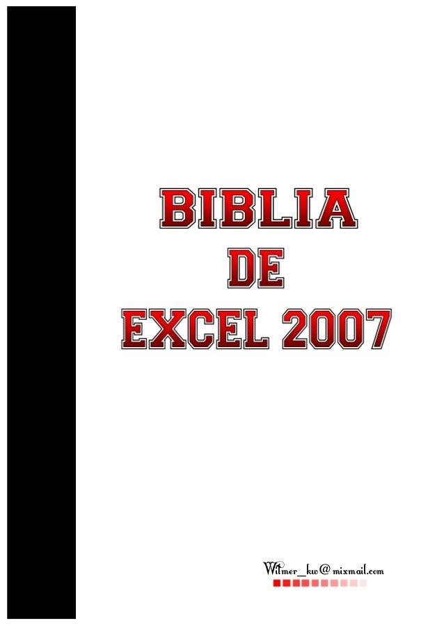Biblia of excel 2007