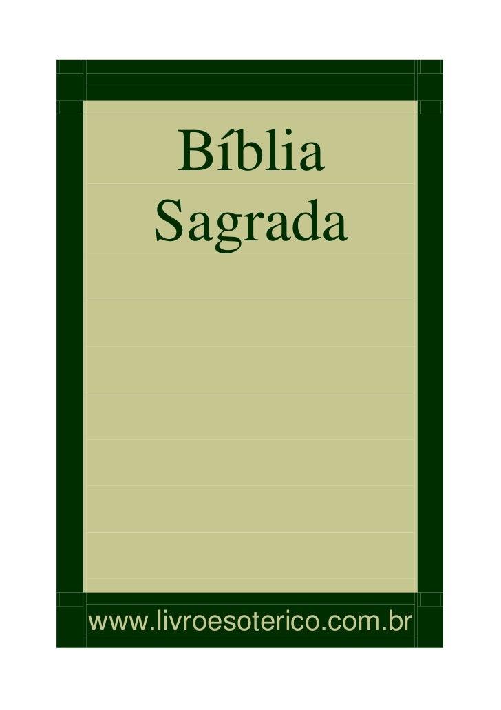Bíblia    Sagradawww.livroesoterico.com.br