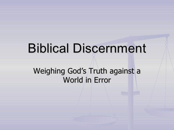 Biblical Discernment06