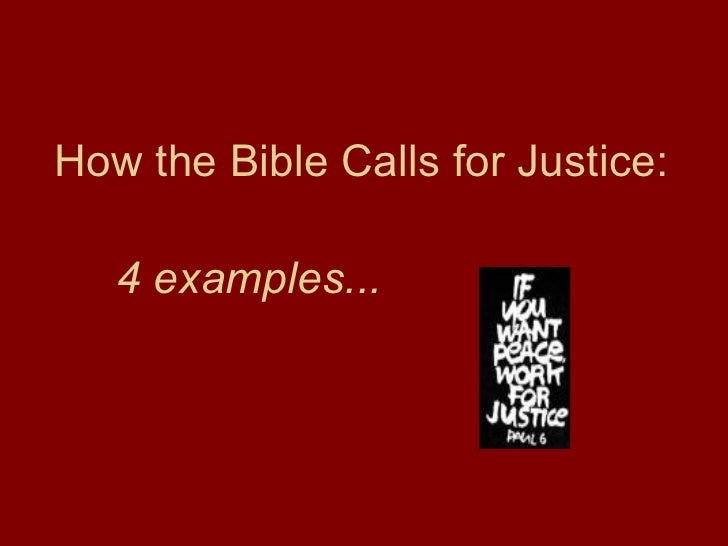 Biblical Roots Of Justice