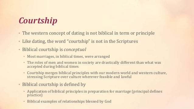 Christian views dating vs courtship
