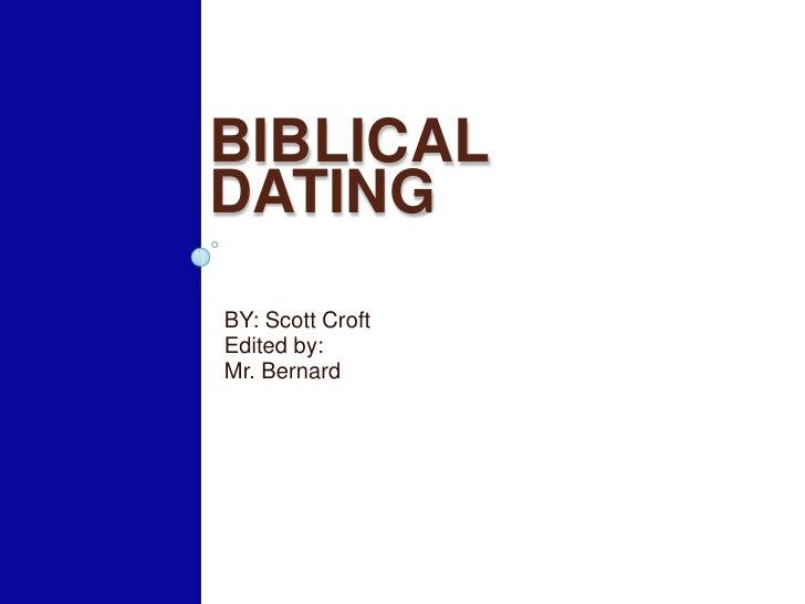 Biblical dating