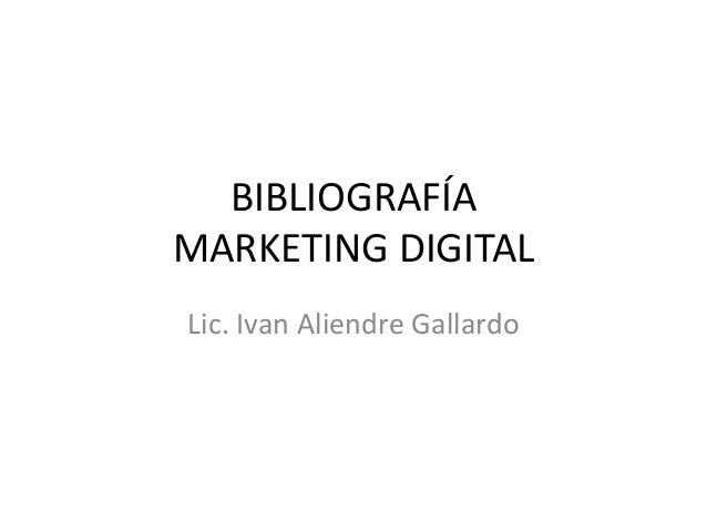 Bibliografía Marketing Digital