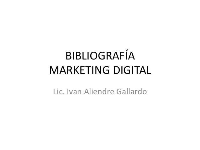 Bibliografía Marketing Digital