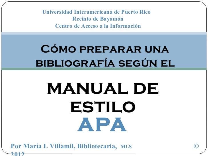 Universidad Interamericana de Puerto Rico                     Recinto de Bayamón              Centro de Acceso a la Inform...