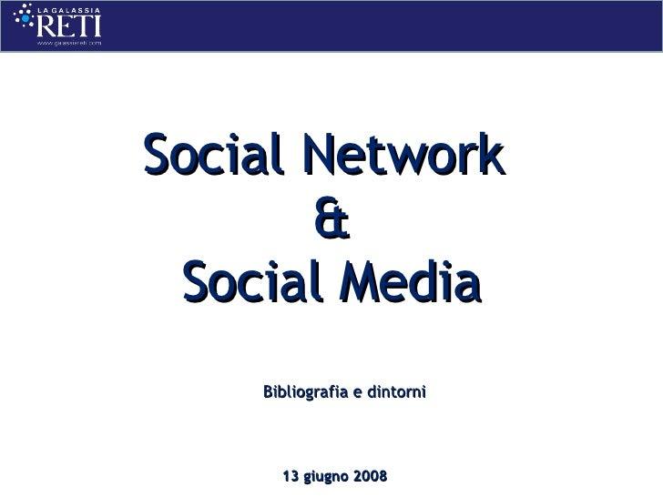 Bibliografia 13 Giugno 2008