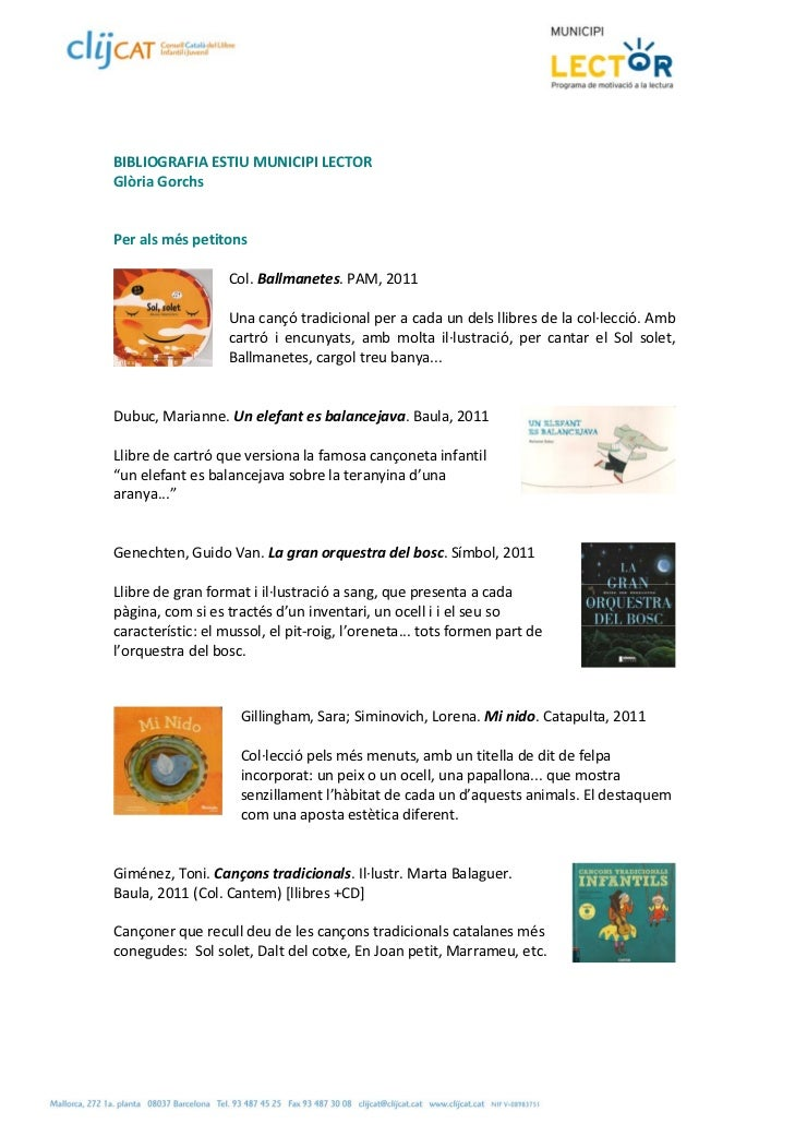 BIBLIOGRAFIAESTIUMUNICIPILECTORGlòriaGorchsPeralsméspetitons                   Col.Ballmanetes.PAM,2011 ...