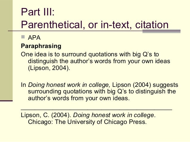 What is the difference between in-text citation and bibliographic ?????