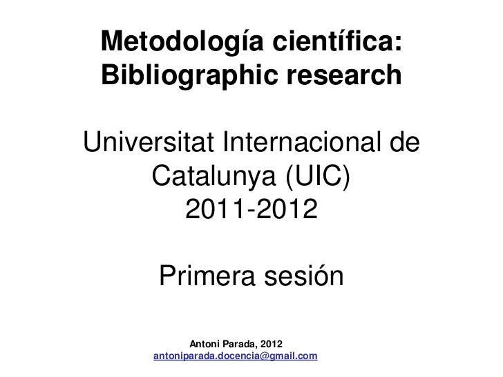 Bibliographic research uic_1_sesion