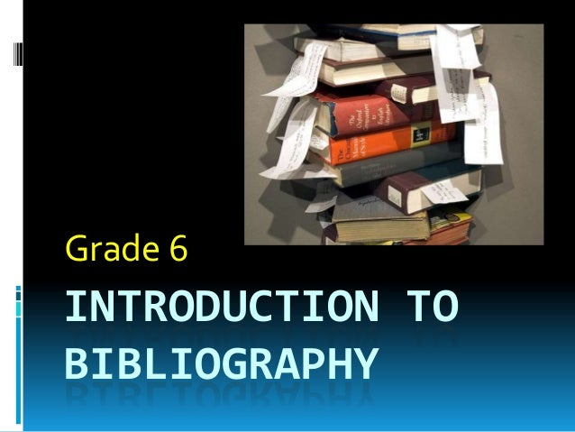 To write a bibliography with more