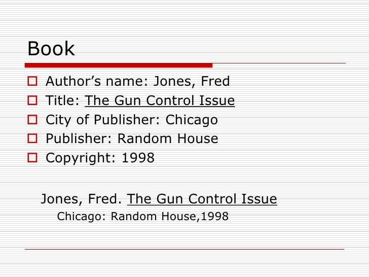 research paper outline gun control