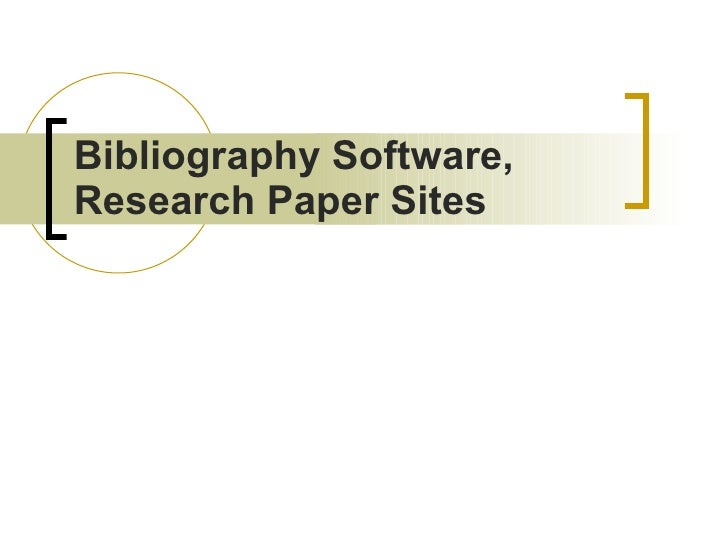 Research paper websites