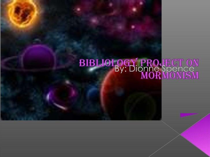 Bibliology project - Mormonisim vs. Christianity