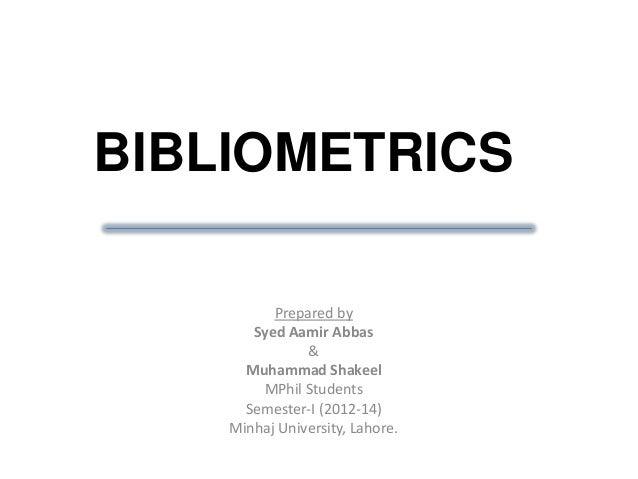 Bibliometric Services | NIH Library