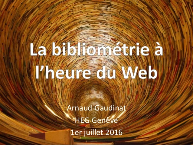 Arnaud Gaudinat HEG Genève 1er juillet 2016