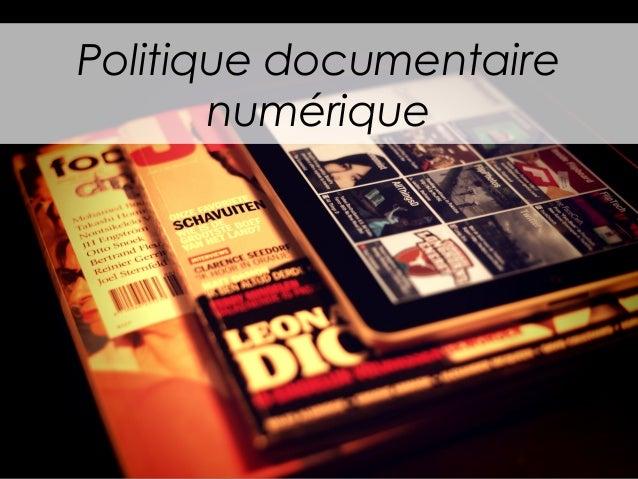 Politique documentaire numérique
