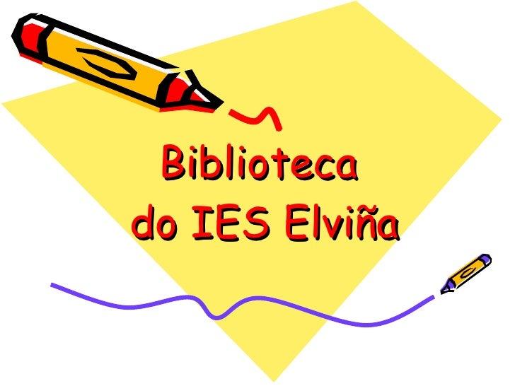 Biblioteca do IES Elviña