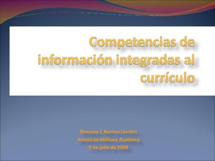 Competencias de Información Integradas