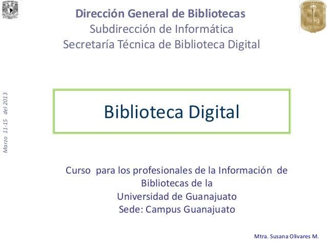 Dirección General de Bibliotecas                            Subdirección de Informática                       Secretaría T...