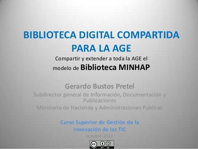 Biblioteca digital única para la Administración General del Estado