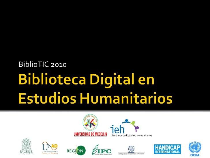 Biblioteca digital ieh