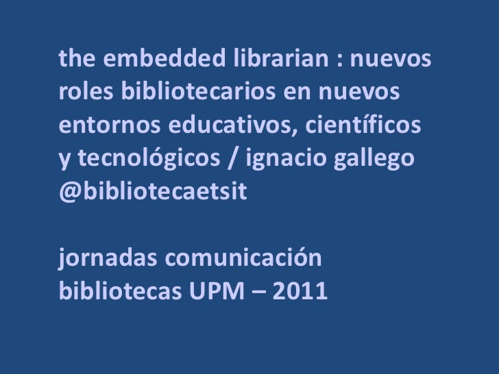 The Embedded Librarian | las imágenes