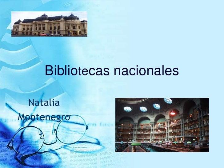 Bibliotecas nacionales