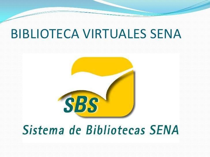 BIBLIOTECA VIRTUALES SENA
