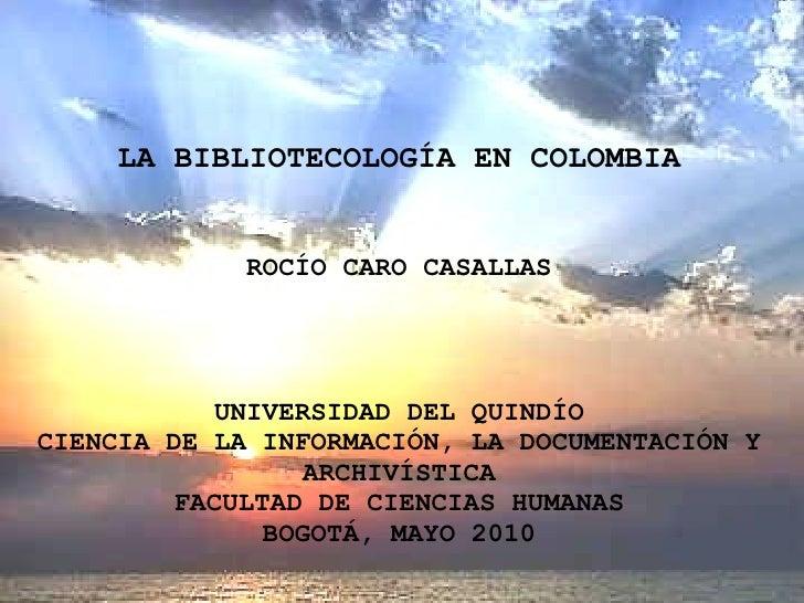 Bibliotecología en colombia 1