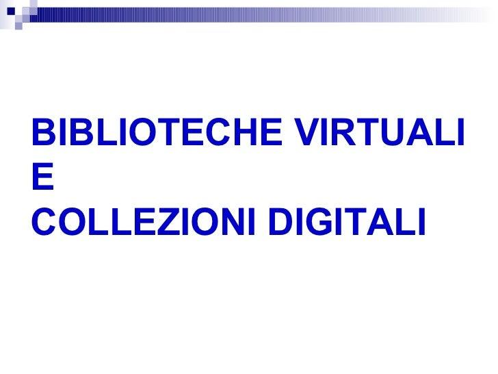 Biblio virtuali collezioni