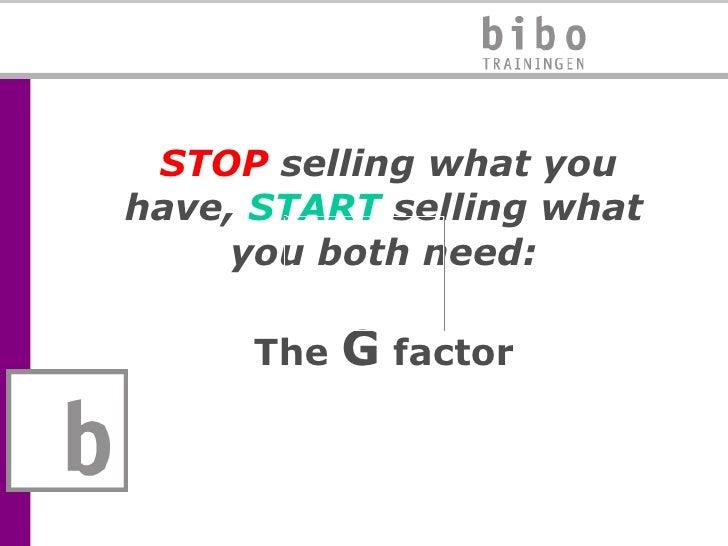 Presentatie exposantentraining - Bibo, beurspresentatie