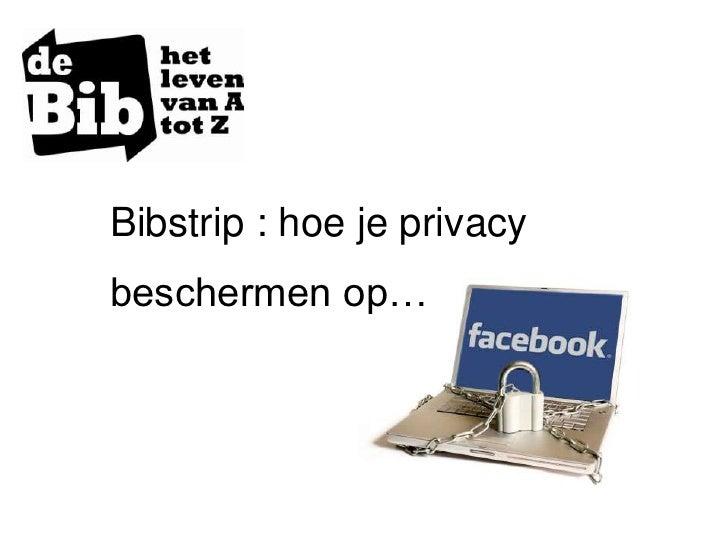 Bibstrip Facebook en privacy
